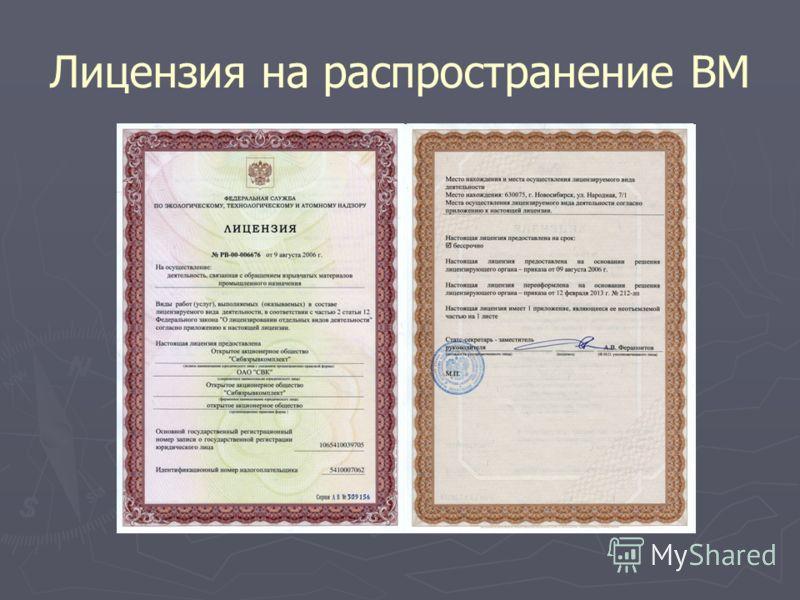 Лицензия на распространение ВМ