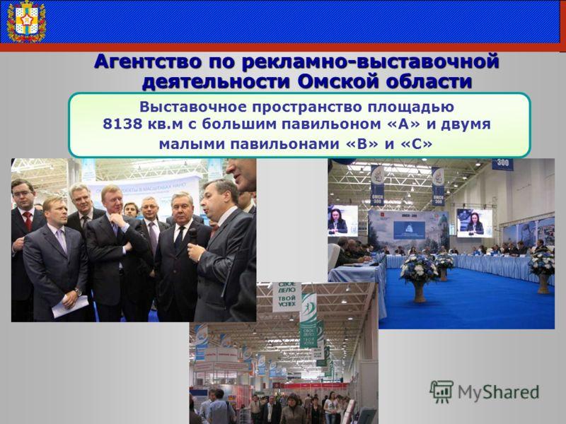 Агентство по рекламно-выставочной деятельности Омской области Выставочное пространство площадью 8138 кв.м с большим павильоном «А» и двумя малыми павильонами «В» и «С»