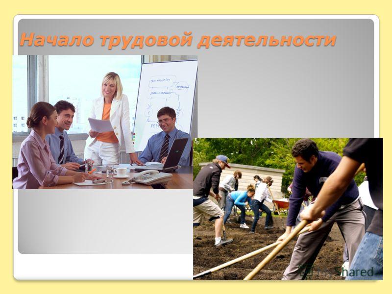 Начало трудовой деятельности