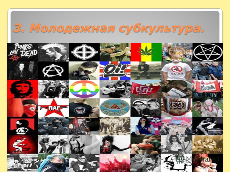 3. Молодежная субкультура.