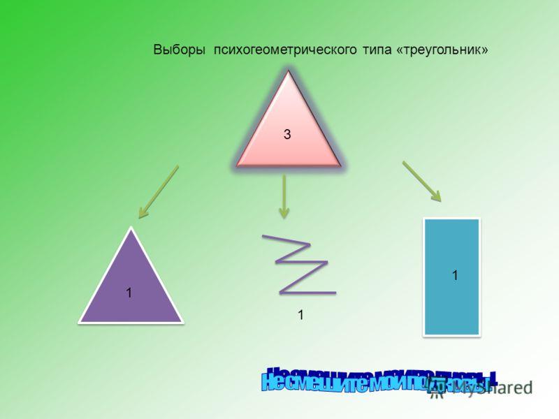 1 3 1 1 Выборы психогеометрического типа «треугольник»