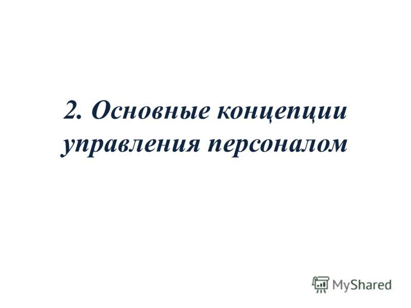 2. Основные концепции управления персоналом