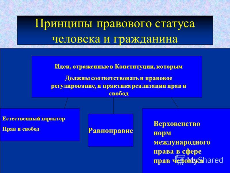 конституционные гарантии правового статуса личности