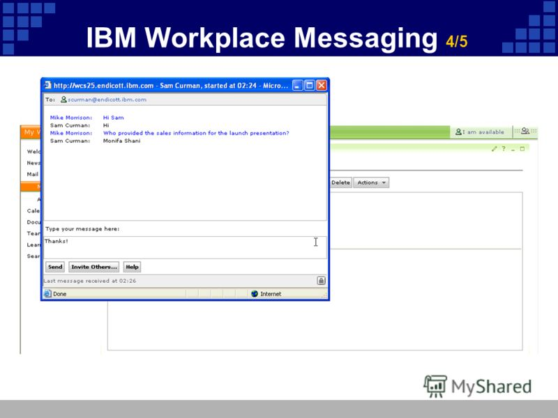 IBM Workplace Messaging 4/5