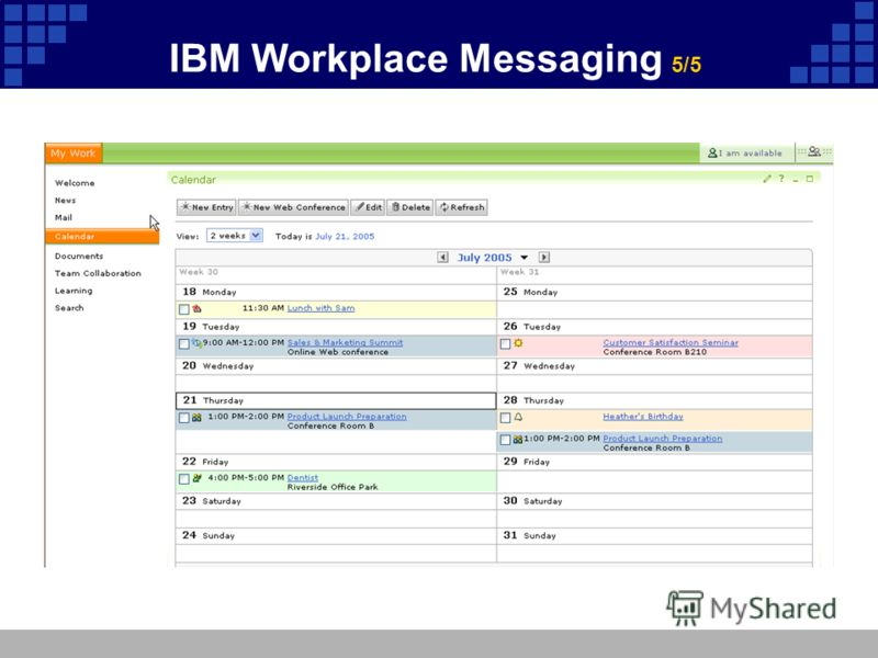 IBM Workplace Messaging 5/5
