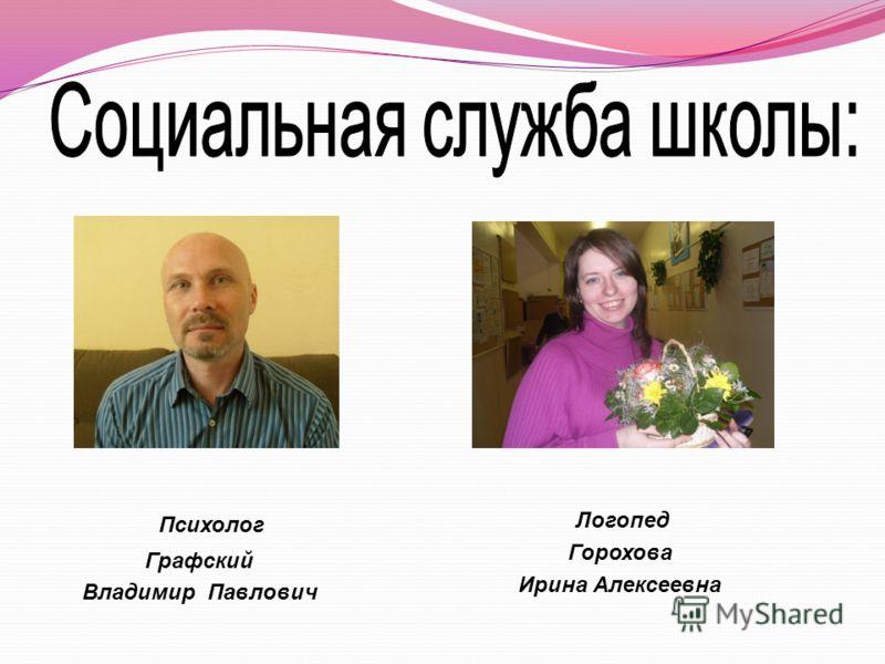 Психолог Графский Владимир Павлович Логопед Горохова Ирина Алексеевна