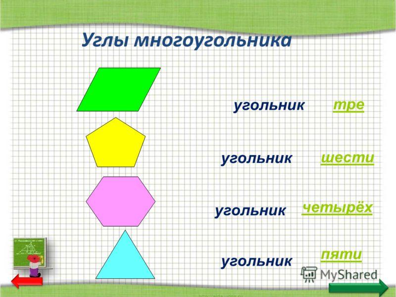 Углы многоугольника угольник пяти тре четырёх шести
