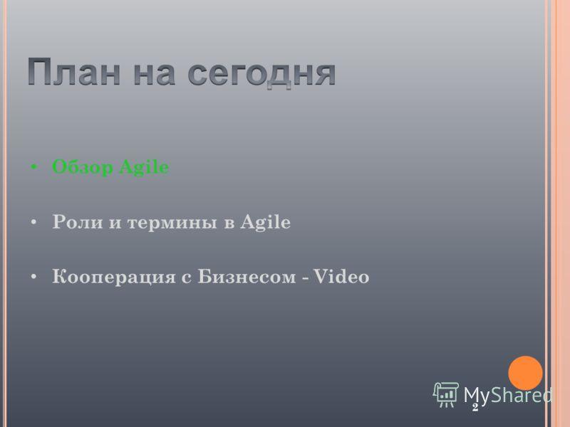 2 Обзор Agile Роли и термины в Agile Кооперация с Бизнесом - Video
