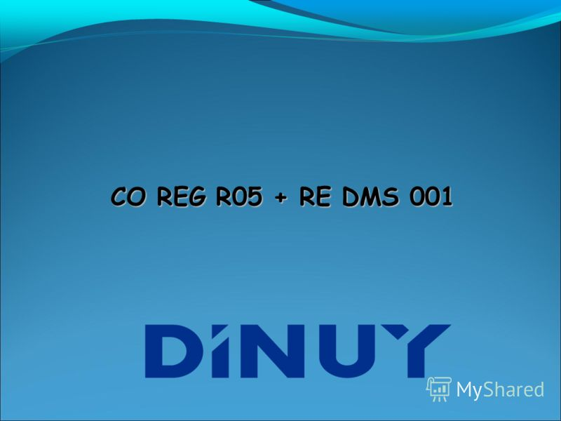 CO REG R05 + RE DMS 001