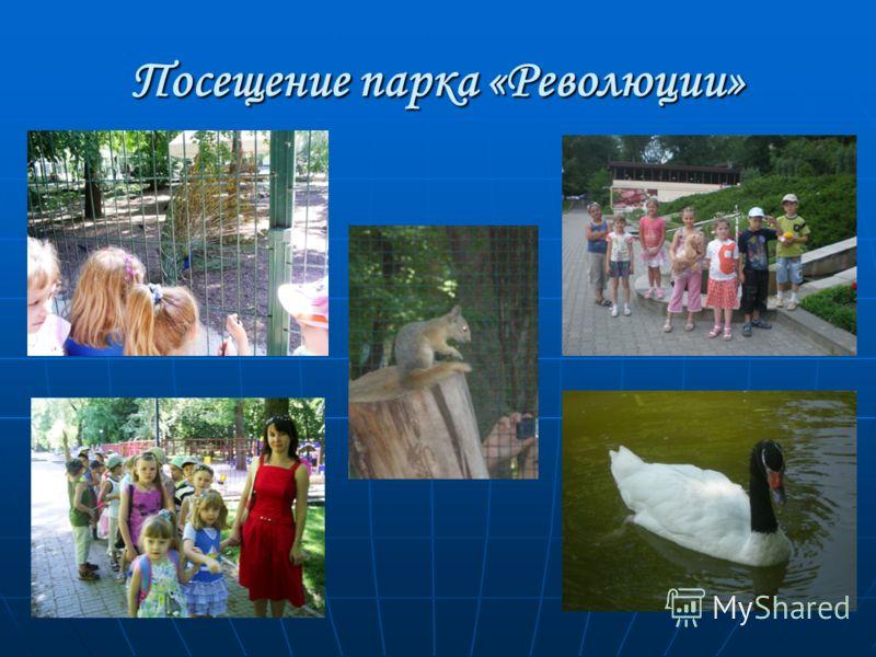Посещение парка «Революции»