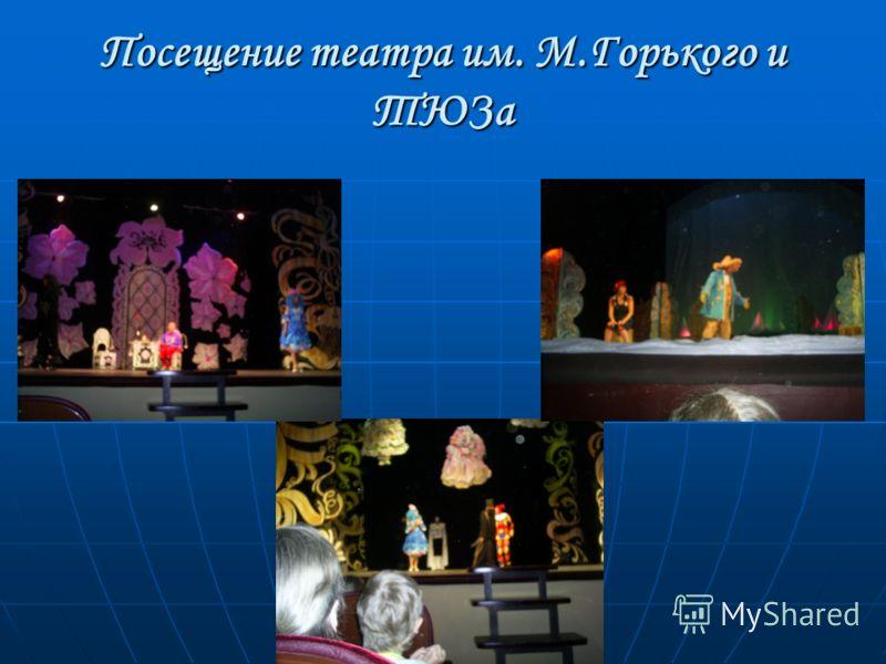Посещение театра им. М.Горького и ТЮЗа