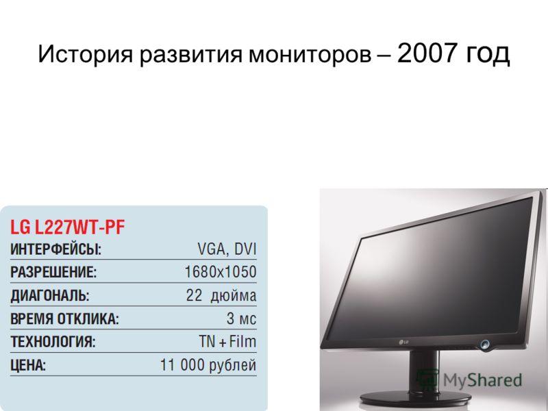 История развития мониторов – 2007 год