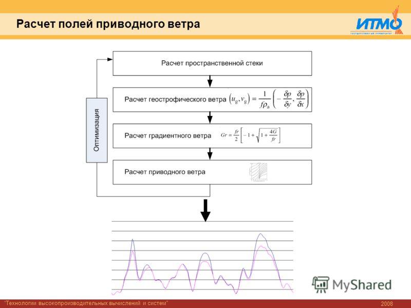 2008 Технологии высокопроизводительных вычислений и систем Расчет полей приводного ветра