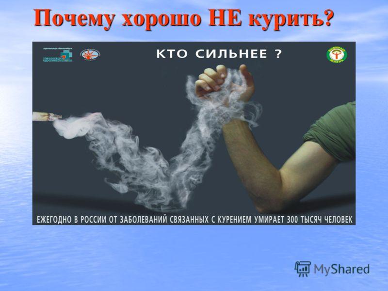 Почему хорошо НЕ курить ?