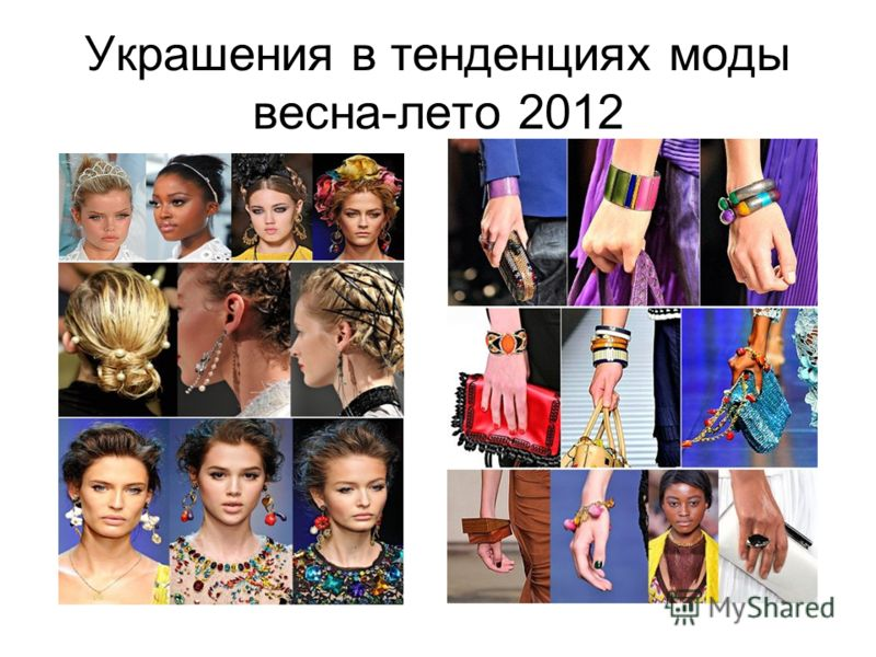 Украшения в тенденциях моды весна-лето 2012