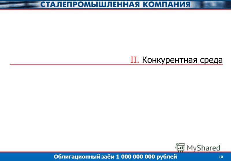 Облигационный заём 1 000 000 000 рублей 10 II. Конкурентная среда