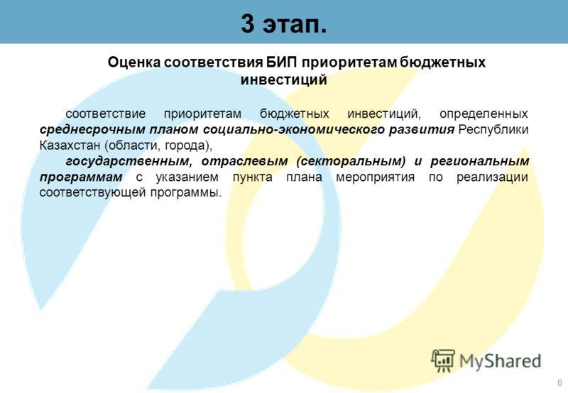 2 этап. Проведение выявление соответствия структуры ТЭО БИП установленным Требованиям Содержание ТЭО проекта должно соответствовать следующей структуре: резюме проекта; введение; маркетинговый раздел; технико-технологический раздел; экологический раз