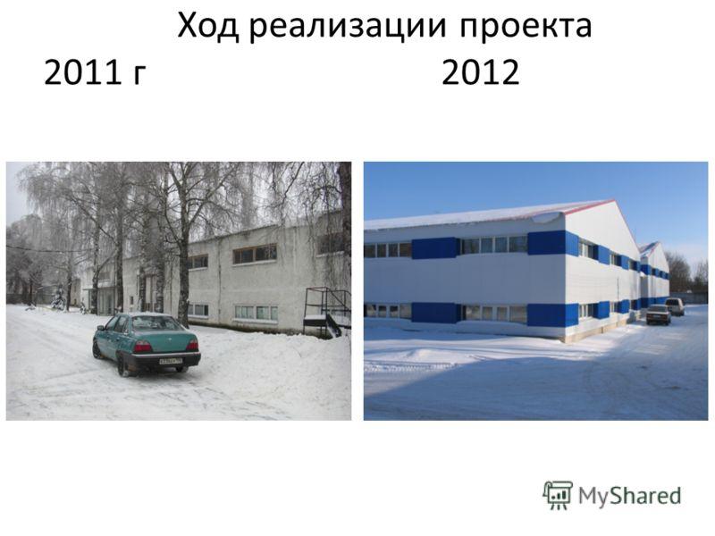 Ход реализации проекта 2011 г 2012