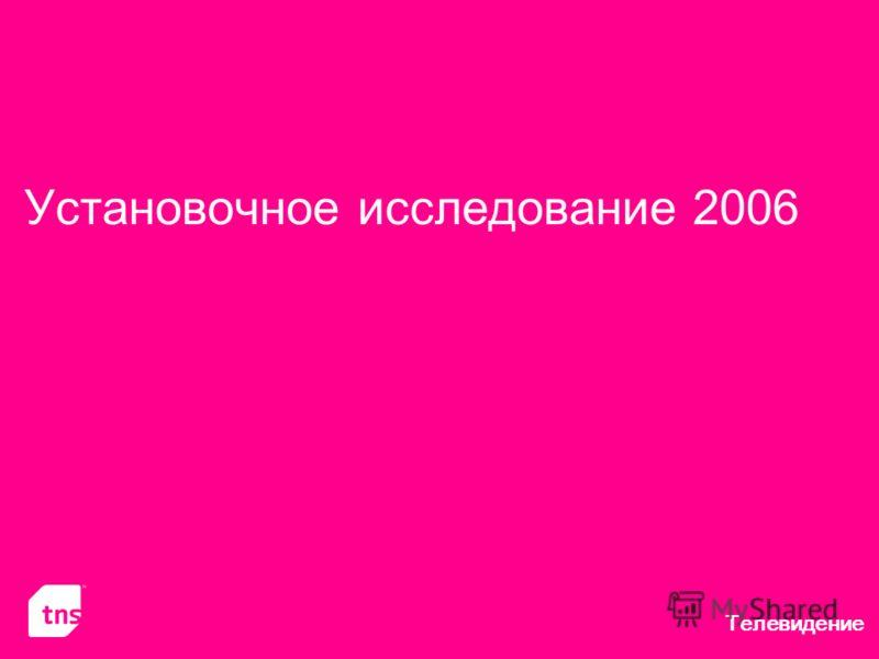 Телевидение Установочное исследование 2006