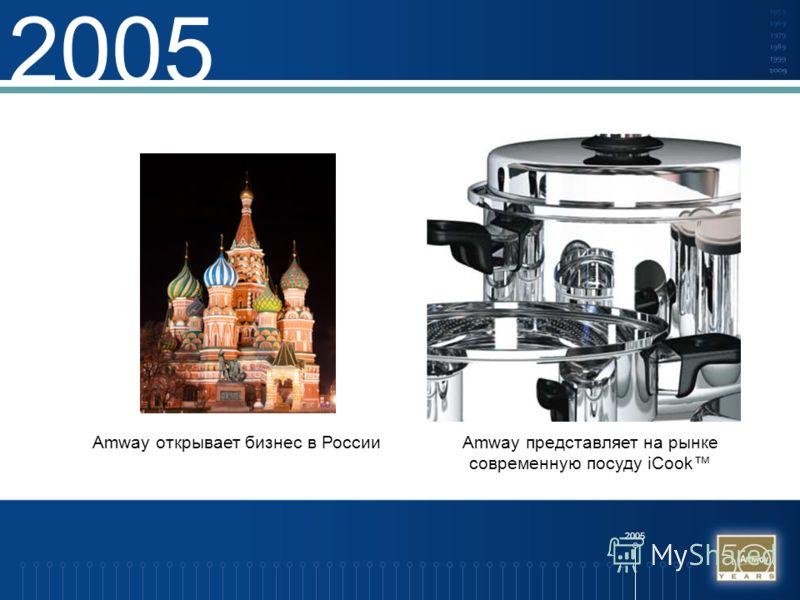 2005 Amway открывает бизнес в РоссииAmway представляет на рынке современную посуду iCook