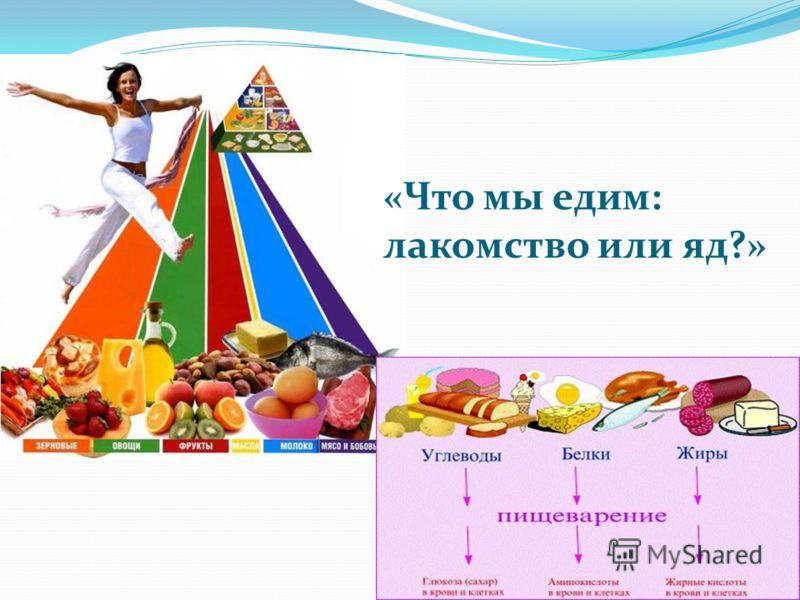 «Что мы едим: лакомство или яд?»