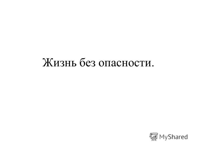 Жизнь без опасности.