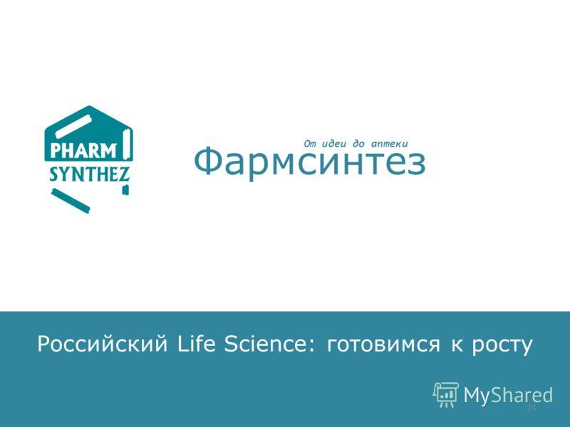 Российский Life Science: готовимся к росту Фармсинтез От идеи до аптеки 24