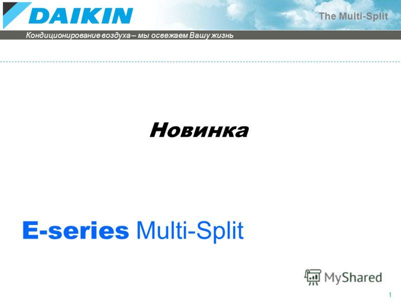 Кондиционирование воздуха – мы освежаем Вашу жизнь The Multi-Split 1 Новинка E-series Multi-Split