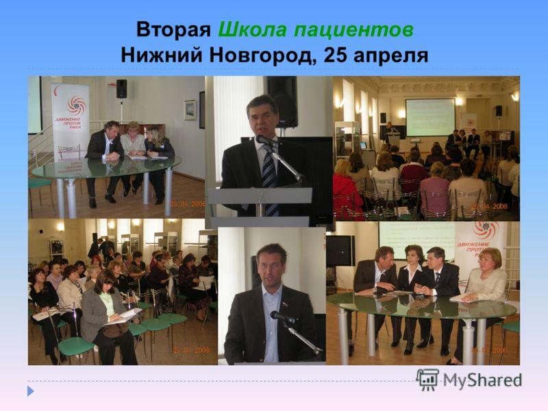 Вторая Школа пациентов Нижний Новгород, 25 апреля