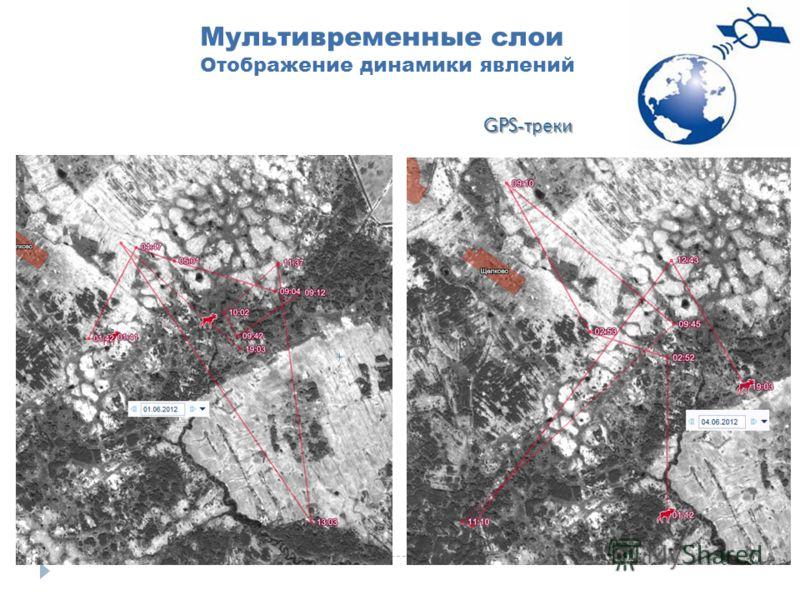 Мультивременные слои Отображение динамики явлений GPS- треки