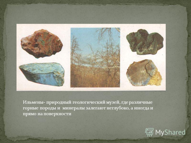 Ильмены- природный геологический музей, где различные горные породы и минералы залегают неглубоко, а иногда и прямо на поверхности