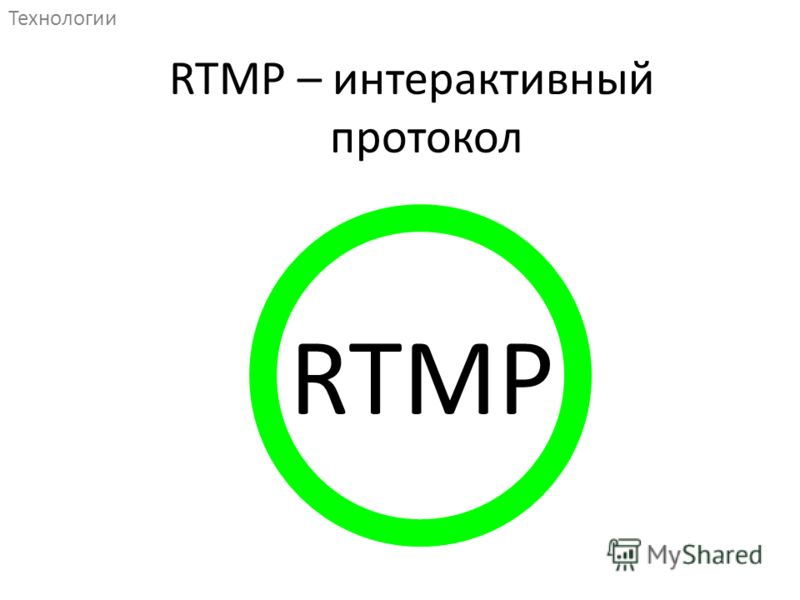 RTMP Технологии RTMP – интерактивный протокол