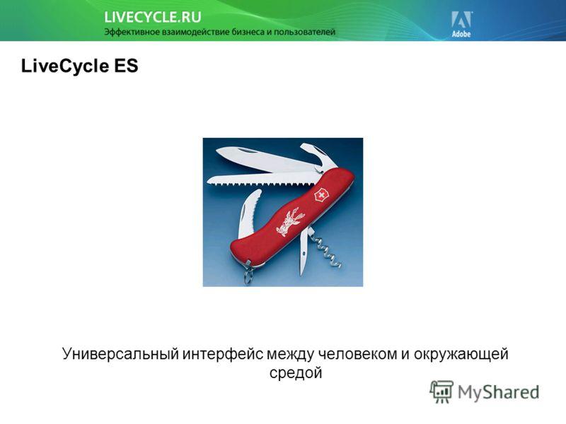LiveCycle ES Универсальный интерфейс между человеком и окружающей средой