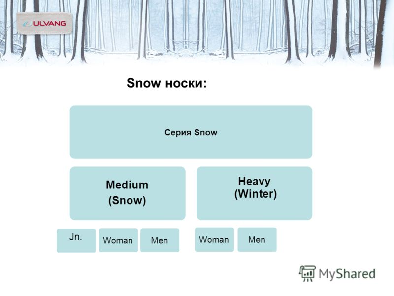 Snow носки: Серия Snow Medium (Snow) Heavy (Winter) WomanMen WomanMen Jn.
