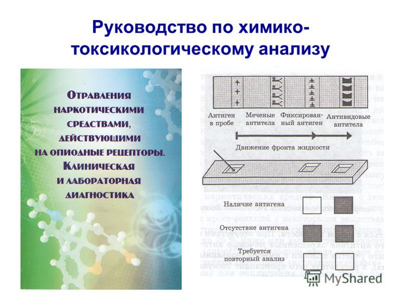 Руководство по химико- токсикологическому анализу