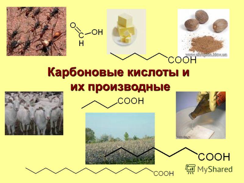 Карбоновые кислоты и их производные