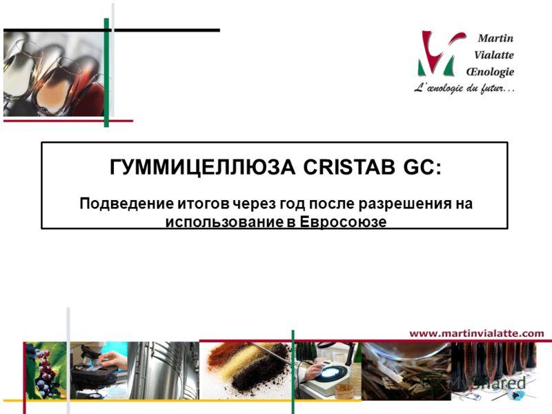 ГУММИЦЕЛЛЮЗА CRISTAB GC: Подведение итогов через год после разрешения на использование в Евросоюзе