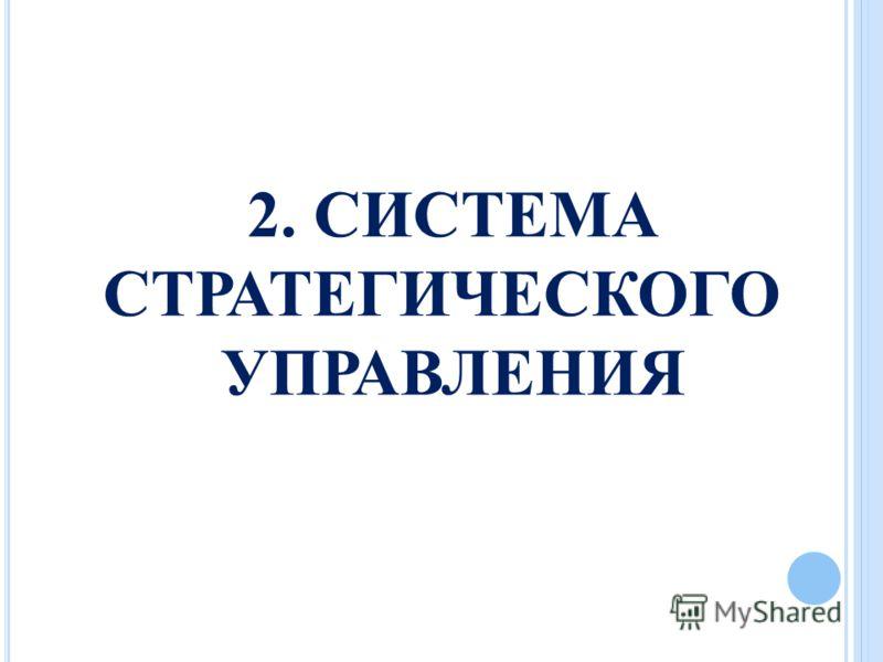 2. СИСТЕМА СТРАТЕГИЧЕСКОГО УПРАВЛЕНИЯ