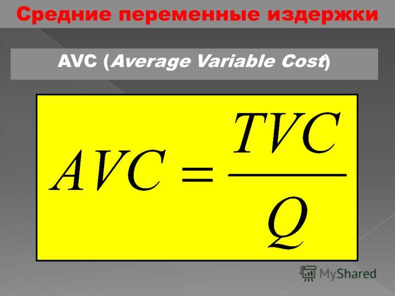 Средние постоянные издержки AFC (Average Fixed Cost)