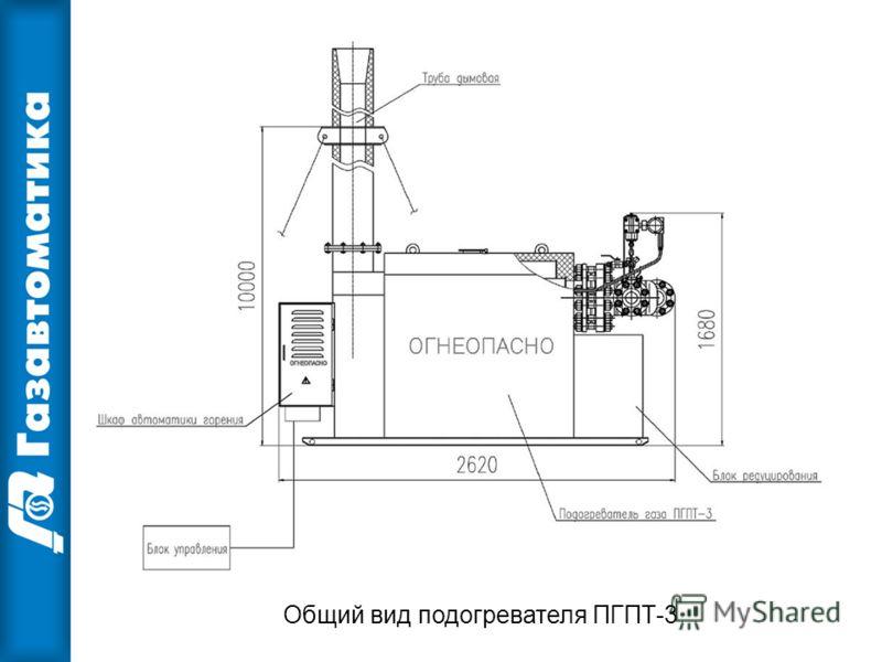 Общий вид подогревателя ПГПТ-3