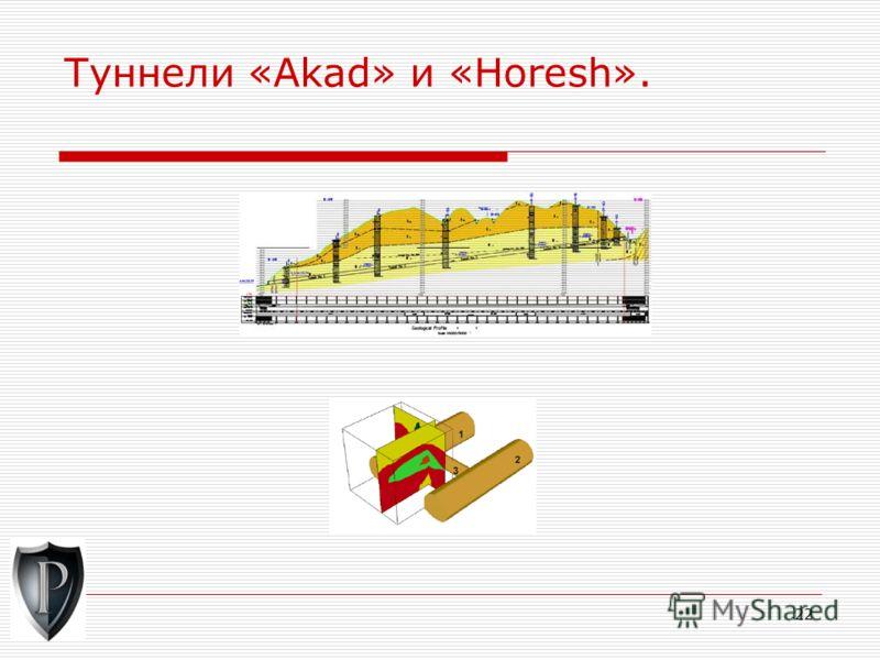22 Туннели «Akad» и «Horesh».