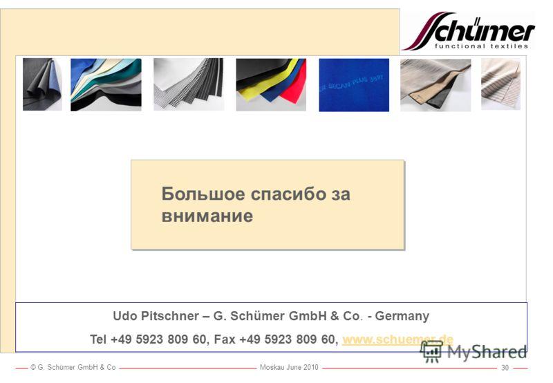 © G. Schümer GmbH & Co Moskau June 2010 29 Практические испытания Schümer с расплавленным алюминием Испытания с алюминием и криолитом