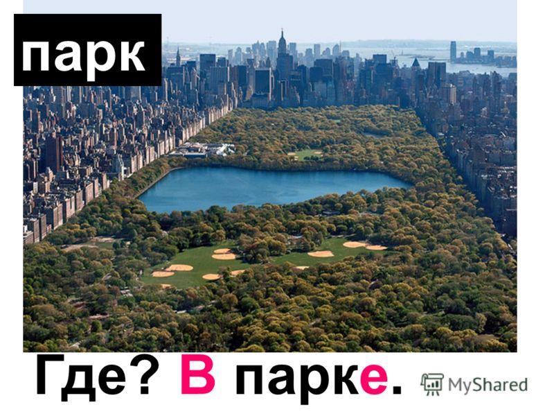 парк Где? В парке.