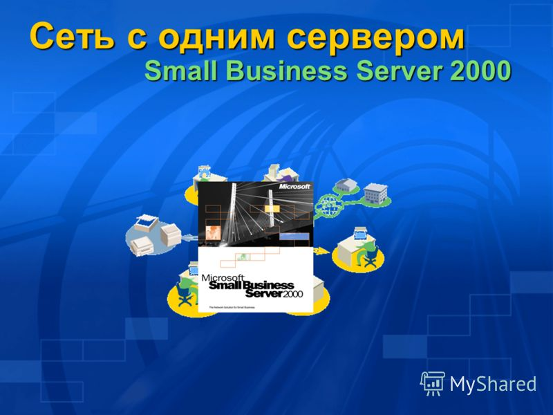 Сеть с одним сервером Small Business Server 2000