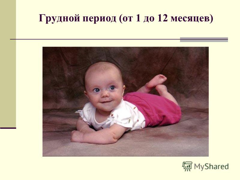 Грудной период (от 1 до 12 месяцев)