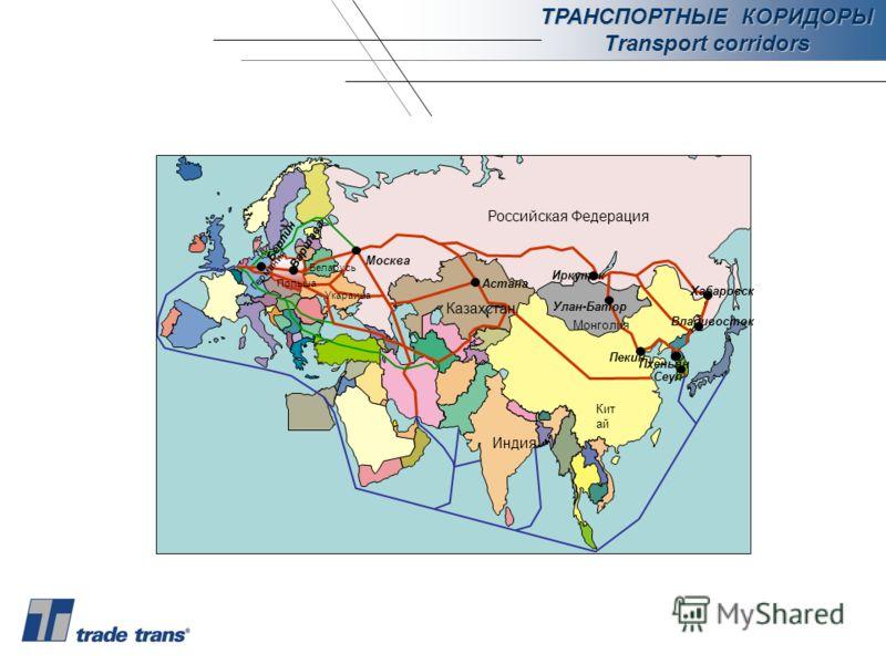 ТРАНСПОРТНЫЕ КОРИДОРЫ Transport corridors