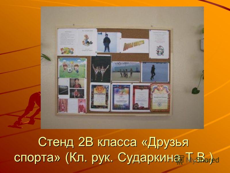 Стенд 2В класса «Друзья спорта» (Кл. рук. Сударкина Т.В.)