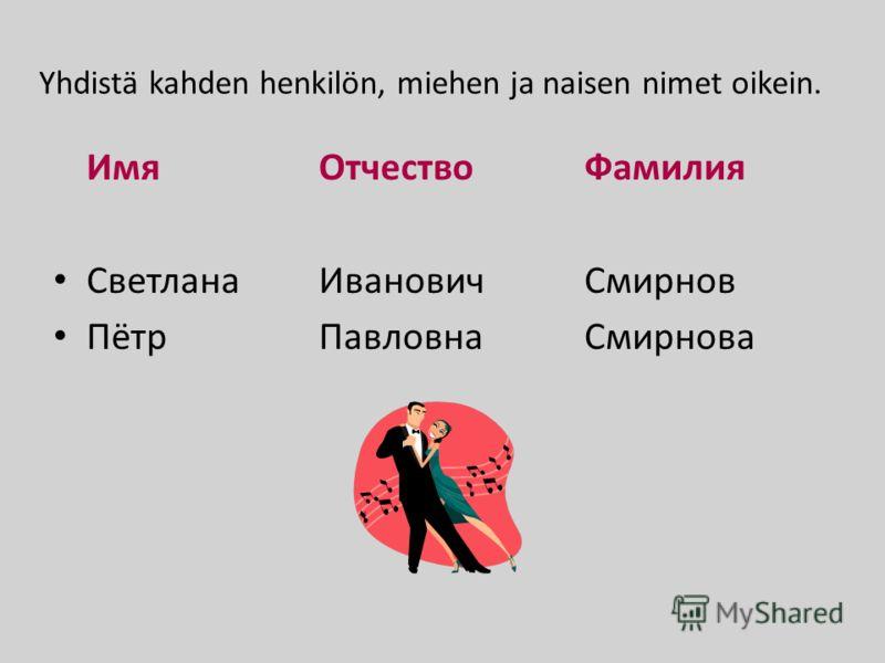 venäläiset miesten nimet Kouvola