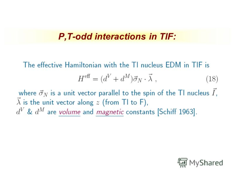 P,T-odd interactions in TlF: