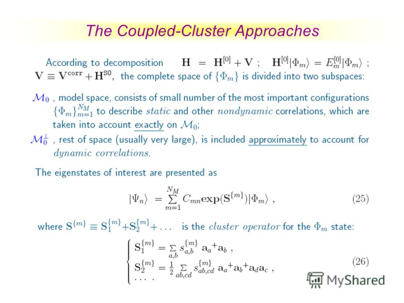 The Coupled-Cluster Approaches